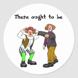 Clowns Classic Round Sticker
