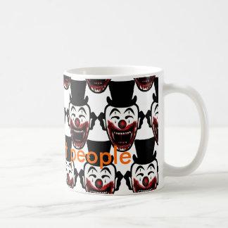Clowns eat people basic white mug