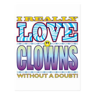 Clowns Love Face Postcard
