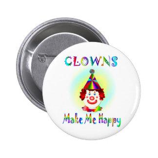 Clowns Make Me Happy 6 Cm Round Badge