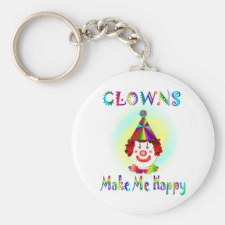 Clowns Make Me Happy Basic Round Button Key Ring