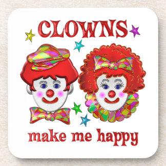 Clowns Make Me Happy Coasters