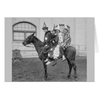 Clowns on a Horse, 1915 Card