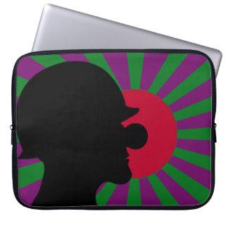 Clownsec Rising Sun Flag Laptop Case
