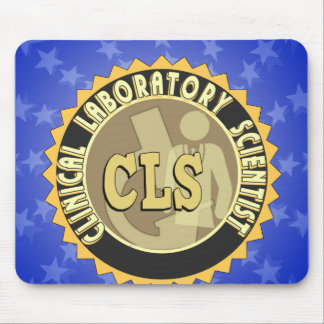 CLS BADGE - CLINICAL LABORATORY SCIENTIST MOUSE MAT