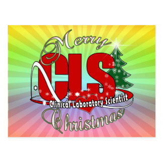 CLS CHRISTMAS Clinical Laboratory Scientist Post Cards