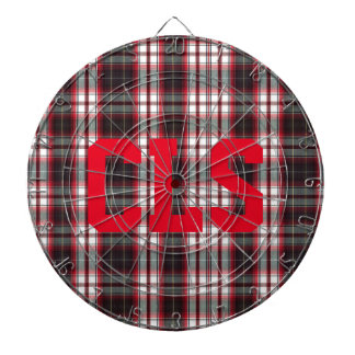 CLS Positively Plaid Metal Cage Dart Board