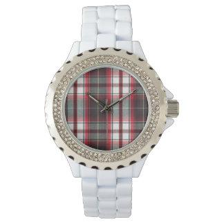 CLS Positively Plaid Rhinestone Fashion Watch
