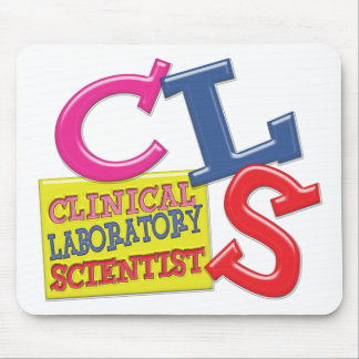 CLS WHIMSICAL  CLINICAL LABORATORY SCIENTIST MOUSE PAD