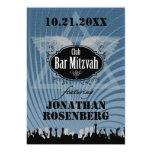 Club Bar Mitzvah in Blue 13 Cm X 18 Cm Invitation Card