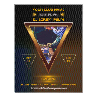 Club DJ Dance Music Party add logo and photo Flyer