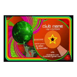 club event poster customizable