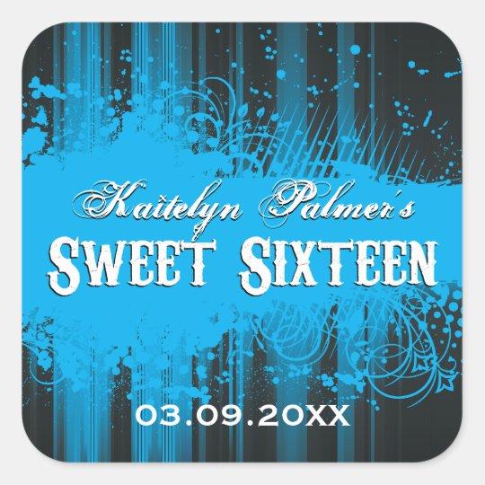 Club Flyer Look Sweet 16 Sticker