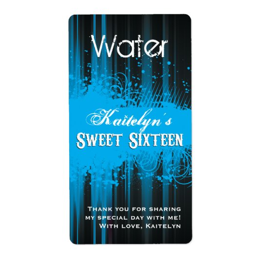 Club Flyer Look Sweet 16 Water Label
