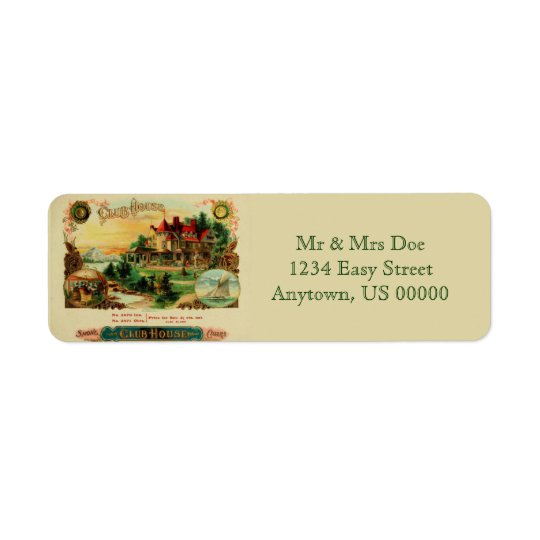 Club House Return Address Label