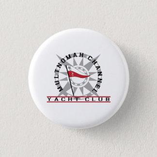 "Club logo on a 1 1/4"" button"