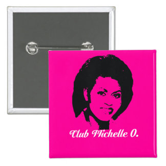 Club Michelle O Button Hot Pink