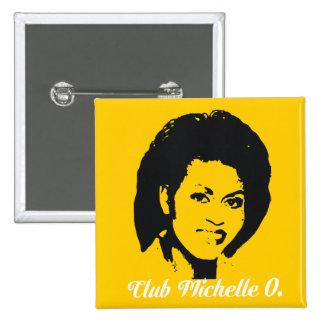 Club Michelle O. Button, Maize Yellow 15 Cm Square Badge