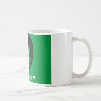 Club Michelle O. Ceramic Coffee Mug, Kelly Green Coffee Mug