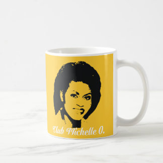 Club Michelle O. Ceramic Coffee Mug, Maize Yellow