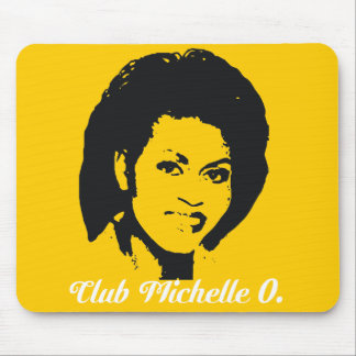 Club Michelle O mousepad in Maize Yellow