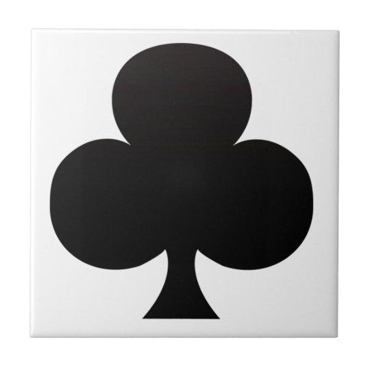 Club Poker Icon Small Square Tile