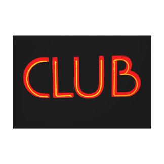Club Red Gallery Wrap Canvas