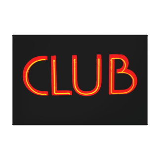 Club Red Canvas Print
