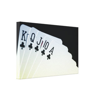 Club Royal Flush Canvas Print