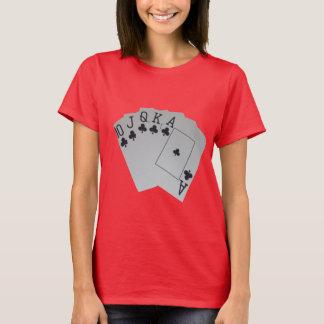 Club_Royal_Flush,_Ladies_Red_T-shirt. T-Shirt