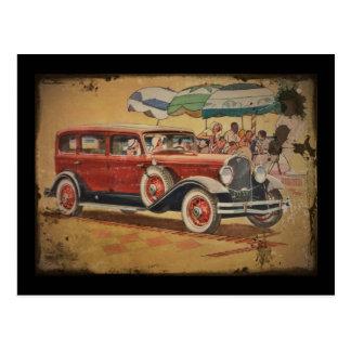 Club Sedan at Beach Postcard