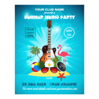 Club Summer Music Party add logo and photo Flyer