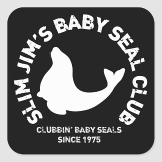 Clubbing Baby Seals Square Stickers