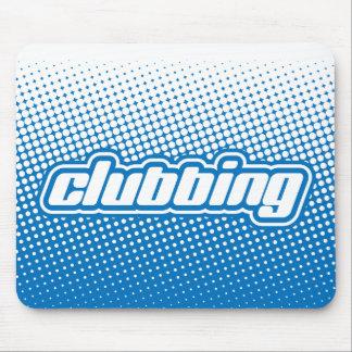 clubbing blue mouse pad