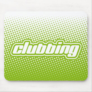 clubbing green mouse pad