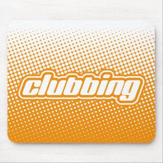 clubbing orange mouse pad