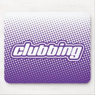clubbing purple mouse pad