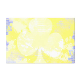 """Clubs Suit Blue & Yellow 36"""" x 24"""" Wrapped Canvas"""