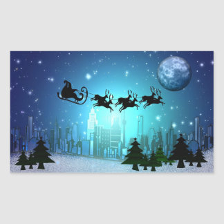 Clue Christmas in the City Rectangular Sticker