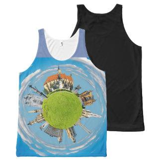cluj napoca city romania little planet landmark ar All-Over print tank top