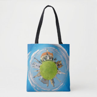 cluj napoca city romania little planet landmark ar tote bag