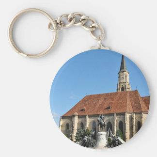 Cluj Napoca, Romania Basic Round Button Key Ring