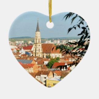 Cluj Napoca, Romania Ceramic Heart Decoration