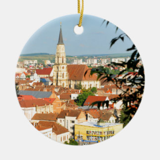 Cluj Napoca, Romania Round Ceramic Decoration