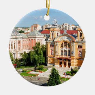 Cluj-Napoca, Romania Round Ceramic Decoration