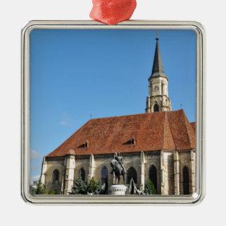 Cluj Napoca, Romania Silver-Colored Square Decoration