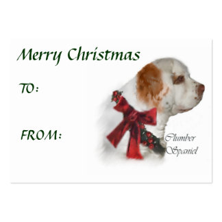 Clumber Spaniel Christmas Gifts Business Card Template