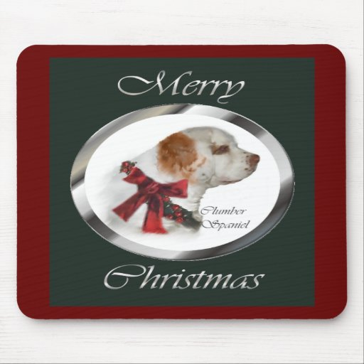 Clumber Spaniel Christmas Gifts Mousepad