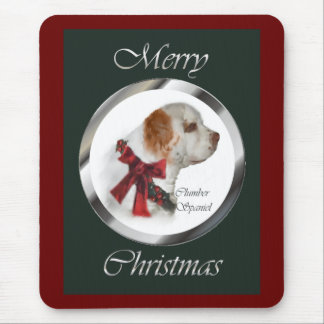 Clumber Spaniel Christmas Gifts Mouse Pad