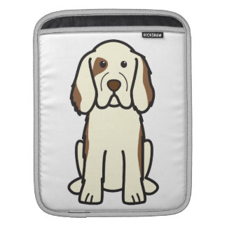 Clumber Spaniel Dog Cartoon iPad Sleeve